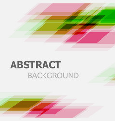 Abstract green and pink business straight line vector