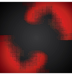 abstract red halftone background vector image