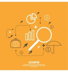 Analysis and Financial Management vector image
