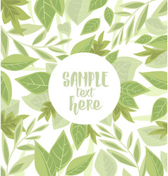 Background with green leaves vector