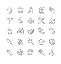 barbecue and grill icons vector image