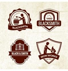 Blacksmith emblems set vector