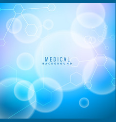 Bright medical background with molecules vector