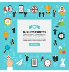 Business process background in flat style vector image