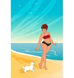 cartoon character girl wearing bikini woman vector image vector image