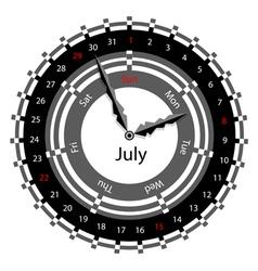 clock calendar vector image