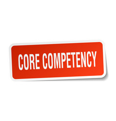 core competency square sticker on white vector image vector image