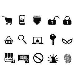 E commerce security icons set vector image vector image