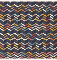 Fashion chevron pattern in yellow and teal colors vector image