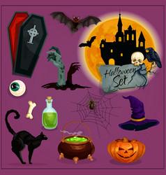 Halloween characters set vector image