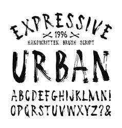Handwritten brush font vector