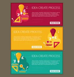 Idea creating process concept flat vector