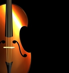 image of abstract fiddle vector image vector image