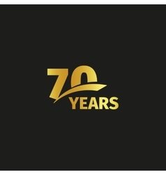 Isolated abstract golden 70th anniversary logo on vector image vector image