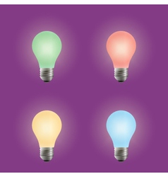 Light bulb Different variants of colors vector image vector image