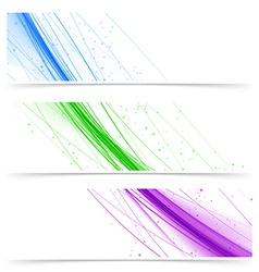 Modern web colorful bright banners collection vector