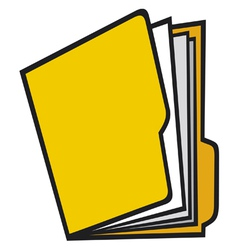 Open folder with paper vector image