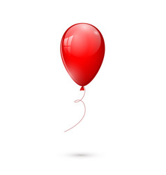 red glossy balloon isolated on white background vector image vector image
