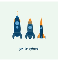 rocket go to space vector image