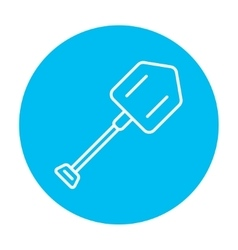 Shovel line icon vector image