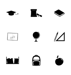 study icon set vector image vector image