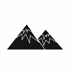 Swiss alps icon simple style vector