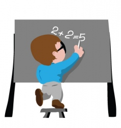 writing on board vector image vector image