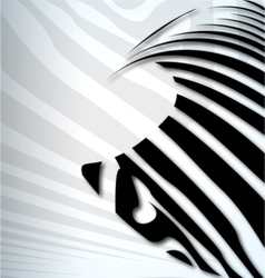 zebra abstract background vector image