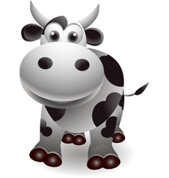 cute cow cartooon vector image