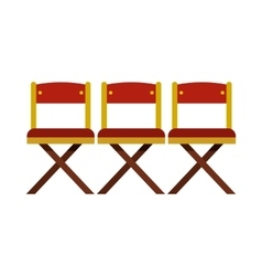 Cinema seats icon in flat style vector