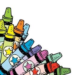 Doodle crayon corner vector