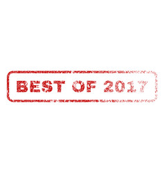 best of 2017 rubber stamp vector image