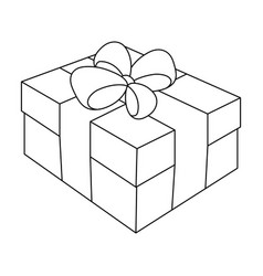 Gift wrapping for easter easter single icon in vector