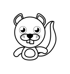 Beaver animal toy outline vector