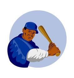 baseball player batting vector image