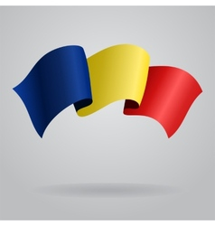 Romanian waving flag vector