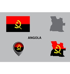 Map of angola and symbol vector