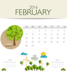 2016 calendar monthly calendar template for vector