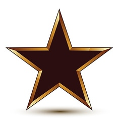 Refined black star with golden outline festive 3d vector