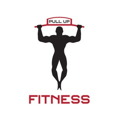 Fitness pull up bands vector