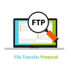Ftp file transfer protocol computer icon symbol vector
