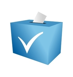 Cast your vote ballot paper vector image