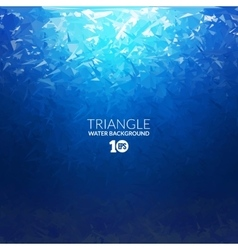 Abstract triangle underwater background vector