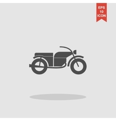 Motorcycle icon flat design style vector