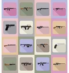 Weapon flat icons 19 vector