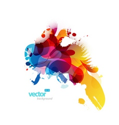abstract splash vector image vector image