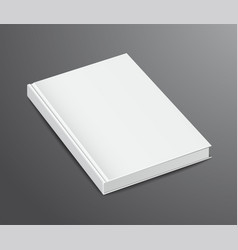 Blank book design isolated on dark background vector