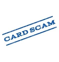 Card scam watermark stamp vector
