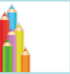 colored pencils frame vector image vector image