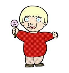 Comic cartoon fat child vector
